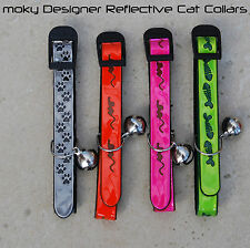 Designer Reflective Cat Collars (2 collars) - Free UK post