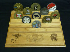 Military Challenge Coin Holder/Display 8x10, AIRBORNE