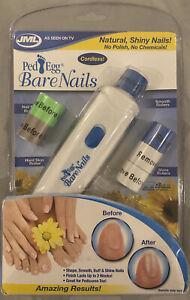 JML Ped Egg Bare Nails Cordless Electronic Nail Care Shape Smooth Buff Shine