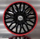 PREIS HIT !!! 4x RADKAPPEN 16 ZOLL ORDEN RED BLACK RADZIERBLENDEN SCHWARZ ROT