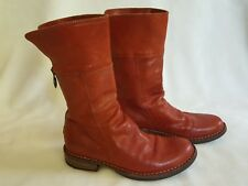 "FIORENTINI + BAKER Red Leather ""Ella"" Boots 36 6.5 7 Calf & Ankle Boho Festival"