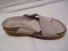 Free People leather and suede Slip On Clog ivory cream SZ 37/7