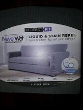 PERFECT FIT LIQUID &STAIN REPEL 3-PIECE SOFA COVER