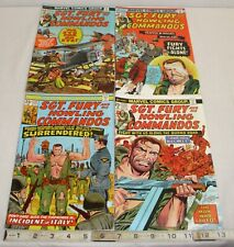 SGT. FURY AND HIS HOWLING COMMANDOS COMIC BOOK LOT 121,125,129,132 MARVEL
