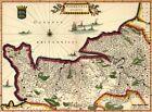 Reproduction carte ancienne - Duché de Normandie XVIIè