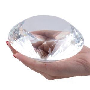 LONGWIN 120mm Clear Crystal Diamond Paperweight Wedding Decor Xmas Lady Gift