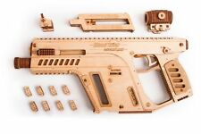 Wood Trick Assault Weapon Model Mechanical Wooden 3D Puzzle Self Assembly Kit