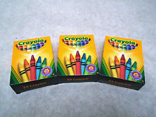 3 x Crayola Crayons Pkt 24 Assorted Colours = 72 Crayons in Total