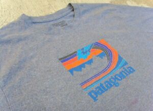 Patagonia Wave Logo T-Shirt  T-Shirt Men's XL Gray
