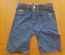 GAS Boy's Blue Jean Chino Long Stretch Shorts Size 6 Years / EU 118