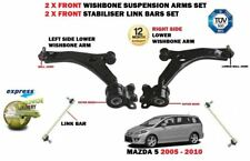 FOR MAZDA 5 2005-2010 2X FRONT WISHBONE SUSPENSION CONTROL ARMS + 2 X LINK BARS
