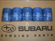 Genuine OEM Subaru Oil Filter 5 pack with Crush Washer 2011 - 2019 (15208AA15A)