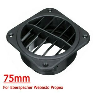 Plastic 75mm Car Air Diesel Heater Duct Air Vent Outlet For Webasto Eberspacher