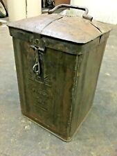 1940's OLD VINTAGE RUSTIC SUN RISING OIL ADV. TIN CAN / BOX