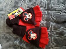 Nwt Disney Kids fingerless Gloves mitten Mickey Mouse Clubhouse winter