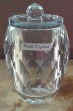 Dorma Crystal Bathroom Vanity Storage Jar with Lid - New
