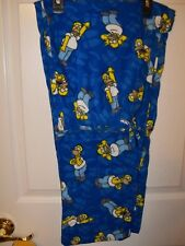 The Homer Simpson's Fleece Lounge Sleep Pajama PJ Pants Mens Size Large NWT