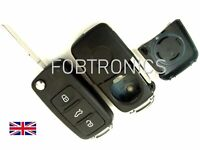 For Seat Ibiza Leon Toledo 3 Button Flip Remote Key Fob Case + HAA Blade A87*