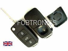 For Seat Ibiza Leon Toledo 3 Button Flip Remote Key Fob Case Blank HAA Blade A87