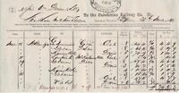 The Caledonian Railway Co. 1880 Glasgow Cancel General Traffic Invoice Ref 39510