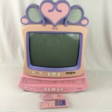 Disney Princess Tv Model Dt-1350P-U Plus Dvd Vcr Combo Player Remotes Pink Rare