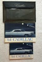 1964 CADILLAC Owner's MANUAL w/ PROTECTION PLAN Booklet & Orig GLOVEBOX POUCH