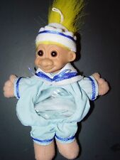 "Troll Doll 6"" Russ Halloween / Christmas Sailor Yellow Hair Candy Bag Ornament"
