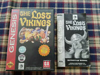 The Lost Vikings - Authentic - Sega Genesis - Case / Box and Manual Only!