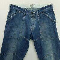 G-Star Raw ELWOOD Mens HEAVY DENIM Jeans W34 L32 Blue Relaxed Straight