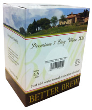 BETTER BREW Premium 7 Day Wine Kit 1.4KG SELECTION Just Add Water for 6 bottles