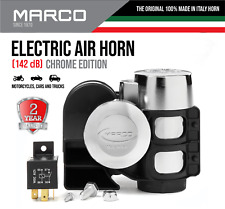 Motorcycle Loud Elctric Air Horn Dual Tone Truck Marco Chrome Compact Harmonic