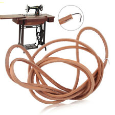 Artificial Cowhide Leather Belt Treadle Parts+Hook Fit For Singer Sew Machine ut