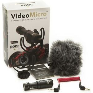 Rode VideoMicro Compact On-Camera Microphone with Shock Mount Brand New!