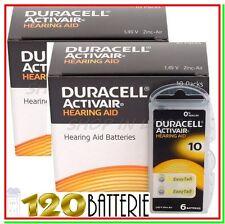 120 DURACELL 10 PR70 ACTIVAIR Protesi Batterie Pile per Apparecchi Acustici