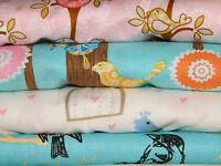 4 FQ Bundle – BIRDS, BIRDS & MORE BIRDS 100% Cotton Quilt Fabric Fat Quarters