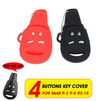 4 Buttons Silicone Car Remote Key Fob Cover Case Shell For Saab 9-3 9-5 2003-15