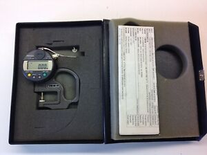 """Mitutoyo 547-300 ABSOLUTE Digimatic Thickness  measuring Gauge 0-10mm / 0-.4"""""""