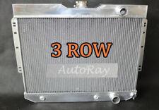 3 Rows Aluminum Radiator for Chevy Impala 59-63 // BelAir / Biscayne 60-65 Auto