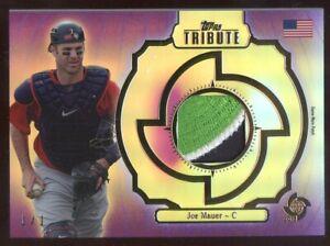 2013 Topps Tribute Joe Mauer Minnesota Twins 3 Color Game Worn Patch 1/1