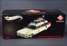 1:18 HOT WHEELS Elite Filmmodell GHOSTBUSTERS ECTO-1 Cadillac RAR No Tuning