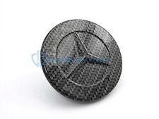 Mercedes C CLK E S Carbon Fiber Genuine Hood Emblem OEM Flat Star Conversion