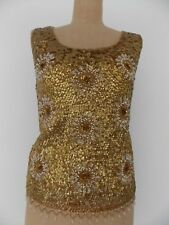 1970s Gold Shell Top - Vic and Vic Haute Coture