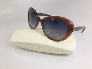New Anne Klein Sunglasses AK7029 604 Merlot with Grey Gradient 56mm with Case
