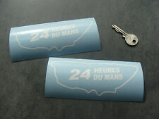 2x stickers 24H Le Mans 14cm Blanc classic decals pegatinas aufkleber A231-010