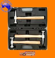 3PCE QUALITY ALUMINIUM HAMMER SET PANELBEATERS KIT AUTOBODY PANEL BEATING REPAIR