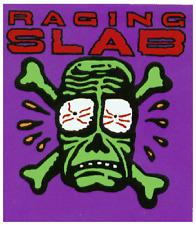 13177 Raging Slab Green Skull & Crossbones Hard Rock & Roll 80s Sticker / Decal