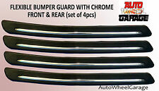 Bumper Protection Flexible Guard for Maruti Celerio-Chrome inserts-set of 4