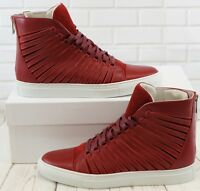 Cipher Radial Berry Red Men's Leather High Top Trainers Sneakers Shoes UK 7
