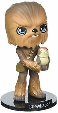 "Star Wars The Last Jedi - CHEWBACCA + PORG 6 "" VINILE Personaggio Bobble-Head"