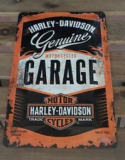 Harley Davidson Metal Sign A4 Retro Style - Garage 30x20 cm - protected product
